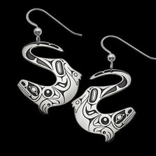River Otter Sterling Silver Earrings |  Metal Arts Group Jewelry | MAG22061-S