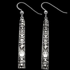 Tongass Totem Sterling Silver Earrings |  Metal Arts Group Jewelry | MAG22156-S