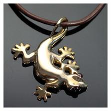 Gecko Bronze Pendant Necklace | Anisa Stewart Jewelry | ASJbrw1004