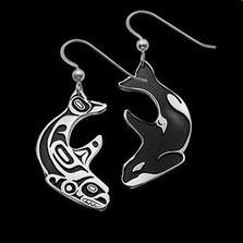 Double Whale Sterling Silver Earrings |  Metal Arts Group Jewelry | MAG22164-S