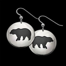 Bear Shadows Sterling Silver Earrings |  Metal Arts Group Jewelry | MAG22401-S