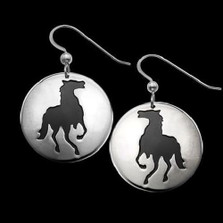 Horse Shadows Silver Earrings |  Metal Arts Group Jewelry | MAG22411