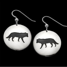 Wolf Shadows Sterling Silver Earrings |  Metal Arts Group Jewelry | MAG22427