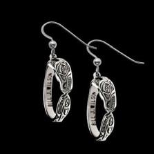 Wolf Sterling Silver Hoop Earrings |  Metal Arts Group Jewelry | MAG22818