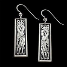 Peacock Celtic Sterling Silver Earrings |  Metal Arts Group Jewelry | MAG23006