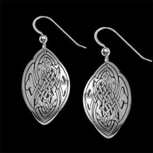Dolphin Love Celtic Sterling Silver Earrings |  Metal Arts Group Jewelry | MAG24029