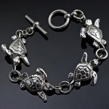 Baby Loggerhead Turtle Sterling Silver Bracelet | Anisa Stewart Jewelry | ASJbs1014