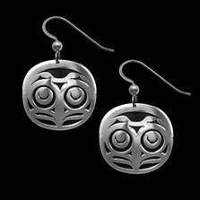 Owl Sterling Silver Earrings |  Metal Arts Group Jewelry | MAG25104