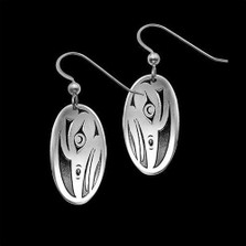Raven Sterling Silver Tribal Earrings |  Metal Arts Group Jewelry | MAG25109