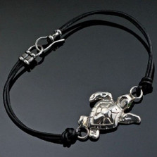 Loggerhead Sea Turtle Sterling Silver Bracelet | Anisa Stewart Jewelry | ASJbs1014-L