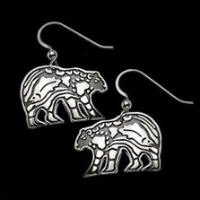 Bear Sterling Silver Earrings |  Metal Arts Group Jewelry | MAG27111