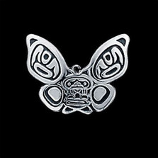 Butterfly Tribal Sterling Pendant Necklace |  Metal Arts Group Jewelry | MAG31914