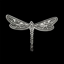Dragonfly Sterling Silver Pendant Necklace |  Metal Arts Group Jewelry | MAG37101