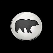 Bear Shadows Sterling Silver Pendant Necklace |  Metal Arts Group Jewelry | MAG42401