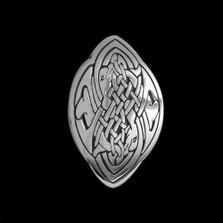 Dolphin Love Sterling Silver Celtic Pendant Necklace |  Metal Arts Group Jewelry | MAG44029-S
