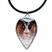 Owl Crystal Necklace Strix Small |  84126 | Mats Jonasson Maleras Jewelry