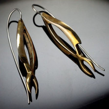 Open Fish Bronze Earrings | Anisa Stewart Jewelry | ASJObre1037