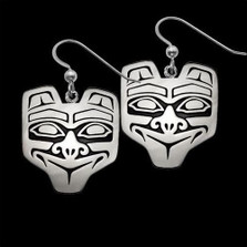 Haida Bear Sterling Silver Earrings | Metal Arts Group Jewelry | TOG21412
