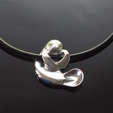 Hanging Manatee Silver Pendant Necklace | Anisa Stewart Jewelry | ASJs1002
