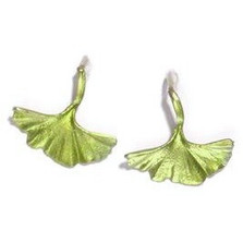Gingko Hook Earrings | Michael Michaud Jewelry | SS4210bz -2