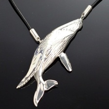 Humpback Whale Sterling Silver Necklace | Anisa Stewart Jewelry | ASJs1006
