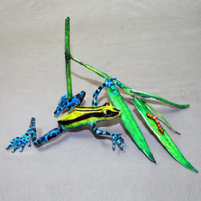 "Frog Sculpture ""Ambush"" | Barry Stein | BBSAMB"