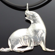 Sea Lion Sterling Silver Pendant Necklace | Anisa Stewart Jewelry | ASJs1008