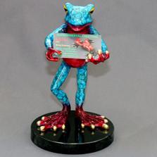 Frog Bronze Cardholder | Barry Stein | BBSCAR1-BG -4