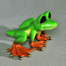 "Frog Sculpture ""Dezerae"" Small | Barry Stein | BBSDEZ1-SML"