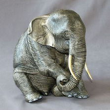 Elephant Bronze Sculpture Papa | Barry Stein | BBSELE1-P