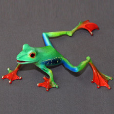 "Frog Bronze Sculpture ""Footloose"" 