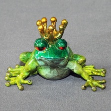 "Frog Bronze Sculpture Frog ""Prince"" 