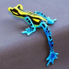 "Frog Bronze Sculpture ""Hang Over"" | Barry Stein | BBSHAN1-BY"