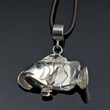 Clownfish Sterling Silver Pendant Necklace | Anisa Stewart Jewelry | ASJs1012
