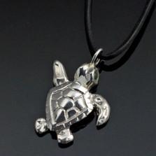 Baby Loggerhead Silver Pendant Necklace | Anisa Stewart Jewelry | ASJs1014