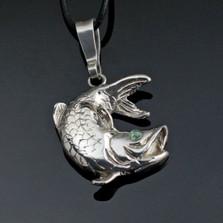 Tarpon Sterling Silver Necklace  | Anisa Stewart Jewelry | ASJs1015-s
