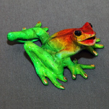 "Frog Bronze Sculpture ""Sammy"" 