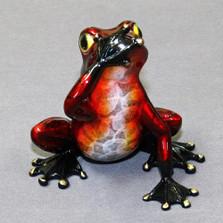 "Frog Bronze Sculpture ""Speak No Evil""   Barry Stein   BBSSPE1-CR"