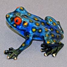 "Frog Bronze Sculpture ""Tootsie"" | Barry Stein | BBSTOO1-CB"