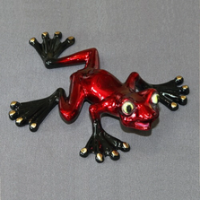 "Frog Bronze Sculpture ""Wally"" 
