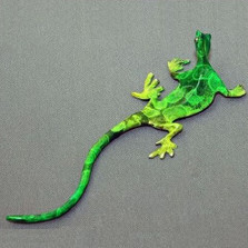Lizard Bronze Wall Sculpture | Barry Stein | BBSWAL1-WLL