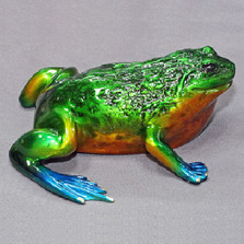 "Frog Bronze Sculpture ""Zeropa"" | Barry Stein | BBSZER1-CL"
