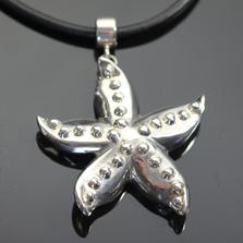 Starfish Sterling Silver Pendant Necklace   Anisa Stewart Jewelry   ASJs1019