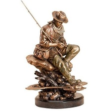 "Fly Fisherman ""Bliss"" Sculpture 