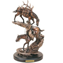 "Horse Sculpture ""Last Creek Crossing"" 