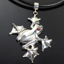 Flying Frog Sterling Silver Pendant Necklace | Anisa Stewart Jewelry | ASJw1003
