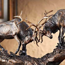 "Elk Sculpture ""Royal Battle"" 