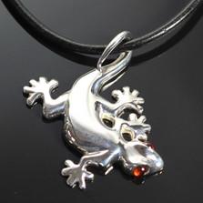 Gecko Sterling Silver Pendant Necklace  | Anisa Stewart Jewelry | ASJw1004
