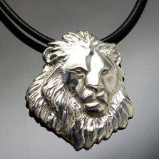 Lion Head Sterling Silver Pendant Necklace | Anisa Stewart Jewelry | ASJw1006
