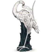 Standing Heron Silver Plated Sculpture   2504   D'Argenta